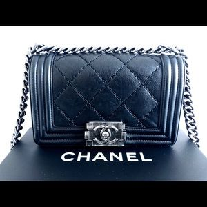 CHANEL Bags - CHANEL Small Boy Chanel Handbag Black Ruthenium